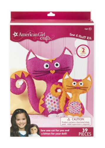 American girl crafts cats sew and stuff kit import it all for American girl craft kit