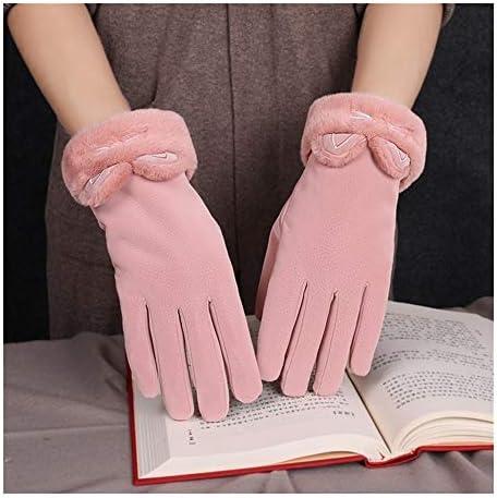 BTXXYJP 手袋冬のタッチスクリーン手袋手袋防風冷たい乗馬太いの暖かい屋外手袋 (Color : グレー, Size : One Size)