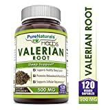 Pure Naturals Valerian Root 500 Mg, 120 Veggie Capsules- Supports...