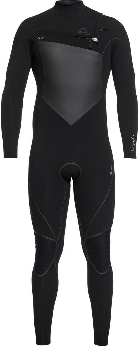 Quik銀メンズ3 /2 mm Highline Plus – Chest Zipウェットスーツ ブラック Mt