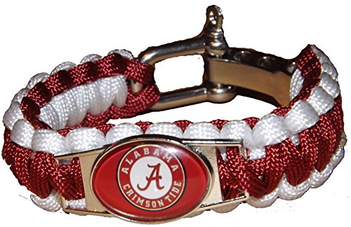 - NCAA Paracord Bracelet - Alabama Crimson Tide Football Team Survival Paracord Bracelet