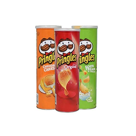 Pringles People's Favourite Original, Cheddar Cheese & Sour Cream Onion Flavoured Potato Chips Combo, Pack Of 3 [1 Of Each Flavour]