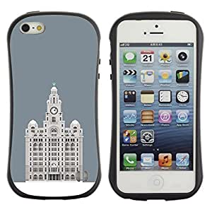 Be-Star Colorful Printed Design Anti-Shock Iface First Class Tpu Case Bumper Cover For Apple iPhone 5 / iPhone 5S ( hotel Budapest grey minimalist building ) Kimberly Kurzendoerfer
