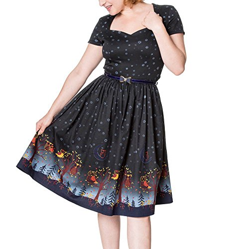 5371 Night TRAVELLER DRESS Blue Days Dancing LONE by Banned Kleid wx0af8q