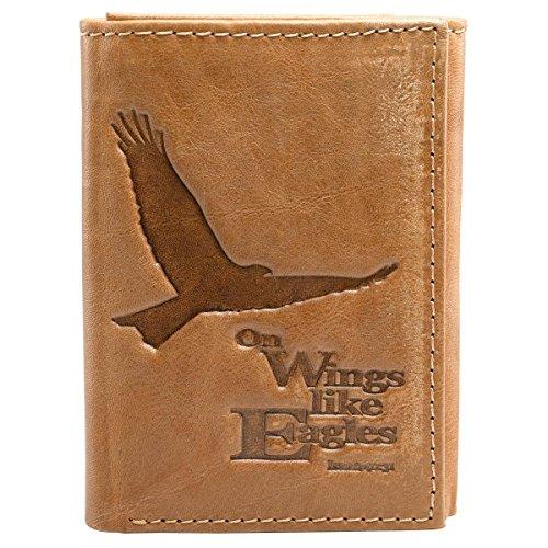 Saddle Genuine Leather Tri Fold Wallet product image