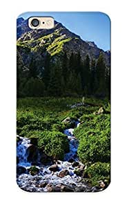 0cea3a16158 Case Cover Protector Series For iPhone 4 4s Mountains Scenery Kyrgyzstan Tian Shan Stream Grass Nature Case For Lovers