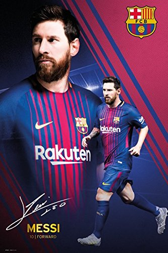 info for 71c2c d7be9 Amazon.com  POSTER STOP ONLINE FC Barcelona - FCB - Sports Soccer  Poster Print (Lionel Messi Montage - 2017 2018) (Size  24