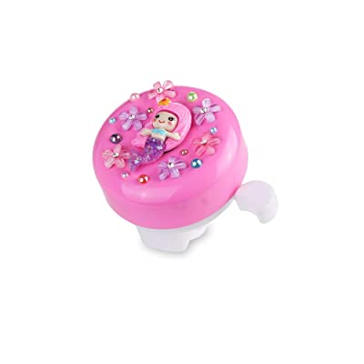 MINI-FACTORY Bike Bell for Kid Girls, Pink Bicycle Handlebar Bell Cute 3D Unicorn/Lollipop Pattern Children's Bike Safe Cycling Ring Horn (Mermaid) : Sports & Outdoors