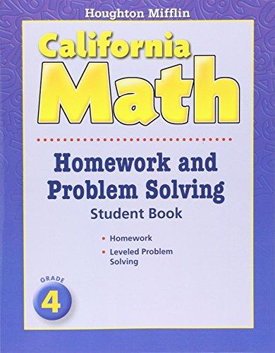 Houghton Mifflin Mathmatics: Homework And Problem Solving Book Consumable Level 4