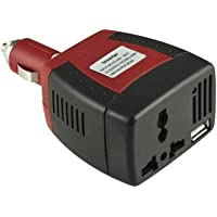 محول عاكس كهربائي ووحدة تزويد بالطاقة بقدرة 150 واط من 12 فولت تيار مباشر الى 220 فولت تيار متردد مع منفذ شاحن USB توضع…