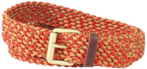 Marc Jacobs Men's Woven Belt For Buckle, Natural, Large