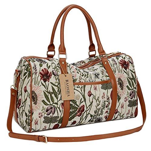 BAOSHA HB-29 Ladies Women Canvas Carry-on Weekender Bag Travel Duffel Tote...