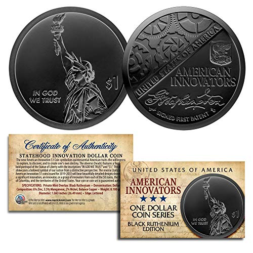 American Innovation State $1 Dollar Coin Series 2018 1st Release BLACK RUTHENIUM ()