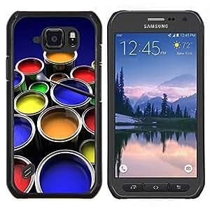 TECHCASE---Cubierta de la caja de protección para la piel dura ** Samsung Galaxy S6 Active G890A ** --Kit de Pintura Arte gráfico del color Ollas Diseño