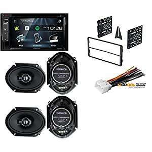 "KENWOOD DDX24BT 6.2"" TOUCHSCREEN CAR DVD BLUETOOTH STEREO With 4) New Kenwood KFC-C6895PS 6x8"" 720 Watt 3-Way Car Audio Coaxial Speakers Stereo+Dash Kit And Harness"