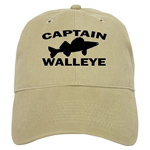CafePress Captain Walleye Cap Baseball Cap with Adjustable Closure, Unique Printed Baseball Hat Khaki