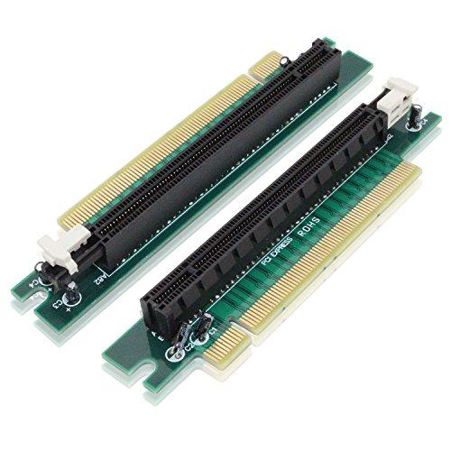 Tanbin PCI-Express 16x Riser Card 90 Degree Right Angle Riser Adapter Card 1U 2U