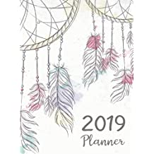 2019 Planner: Daily Weekly And Monthly Calendar Planner With Holiday | January 2019 to December 2019 For To do list Planners And Academic Agenda Schedule Organizer Logbook Journal Notebook