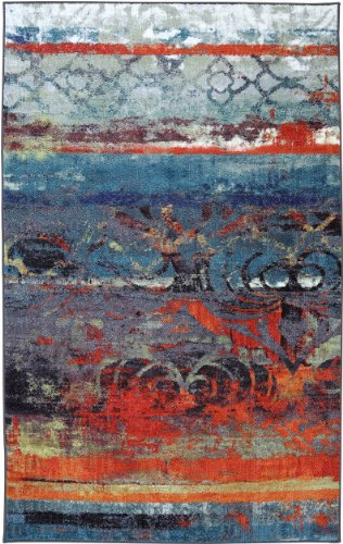 Mohawk Home Strata Eroded Color Printed Rug, 5'x8', Multi