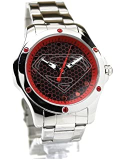 Amazon ultra rare superman street watch fossil returns dc wb man of steel superman hope red stainless steel limited edition watch freerunsca Choice Image