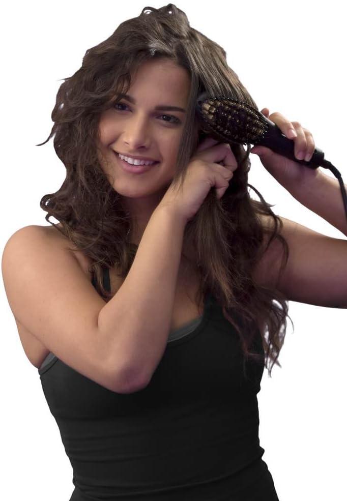 Salon Straight Ceramic Hair - Cepillo alisador de pelo