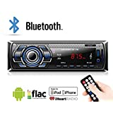 Car Stereo, 12V Car Stereo FM Radio MP3 Audio Player Built in Bluetooth Phone with USB SD MMC Port Car Radio Bluetooth in-Dash 1 DIN ISO Connector