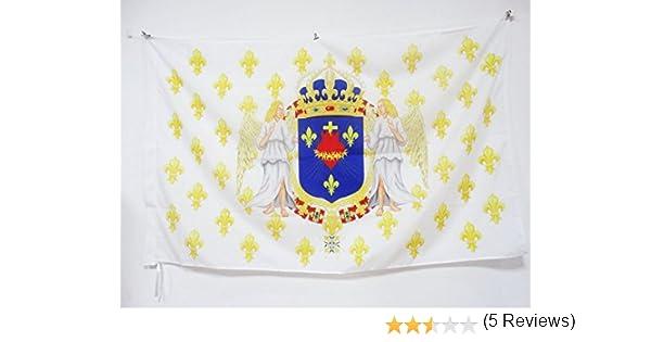 AZ FLAG Bandera del Reino DE Francia Angel CORAZÓN Sagrado ...