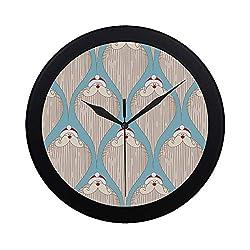 THKDSC Modern Simple Santa Claus Merry Christmas Retro Grunge Pattern Wall Clock Indoor Non-Ticking Silent Quartz Quiet Sweep Movement Wall Clcok for Office,Bathroom,livingroom Decorative 9.65 Inch