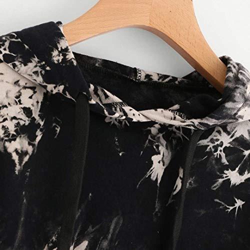 Abbigliamento Accogliente Hoodies Pattern Cappuccio Con Coulisse Sport Manica Stampate Giovane Baggy Moda Violett Shirt Felpa Donna Lunga Casual Felpe Eleganti Stile Autunno Modern X8aqvvwn