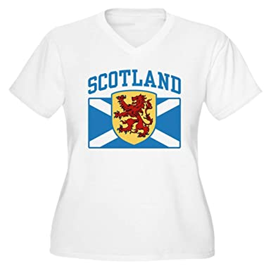 89ef0994 CafePress Scotland Women's Plus Size V Neck T Shirt Women's Plus Size  V-Neck T