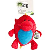 goDog Dragons Grunters Plush Dog Toy with Chew Guard Technology, Large, Red