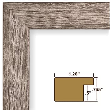 19x27 poster frame smooth grain finish 126 wide gray barnwood 093 acrylic foamcore fm26gry