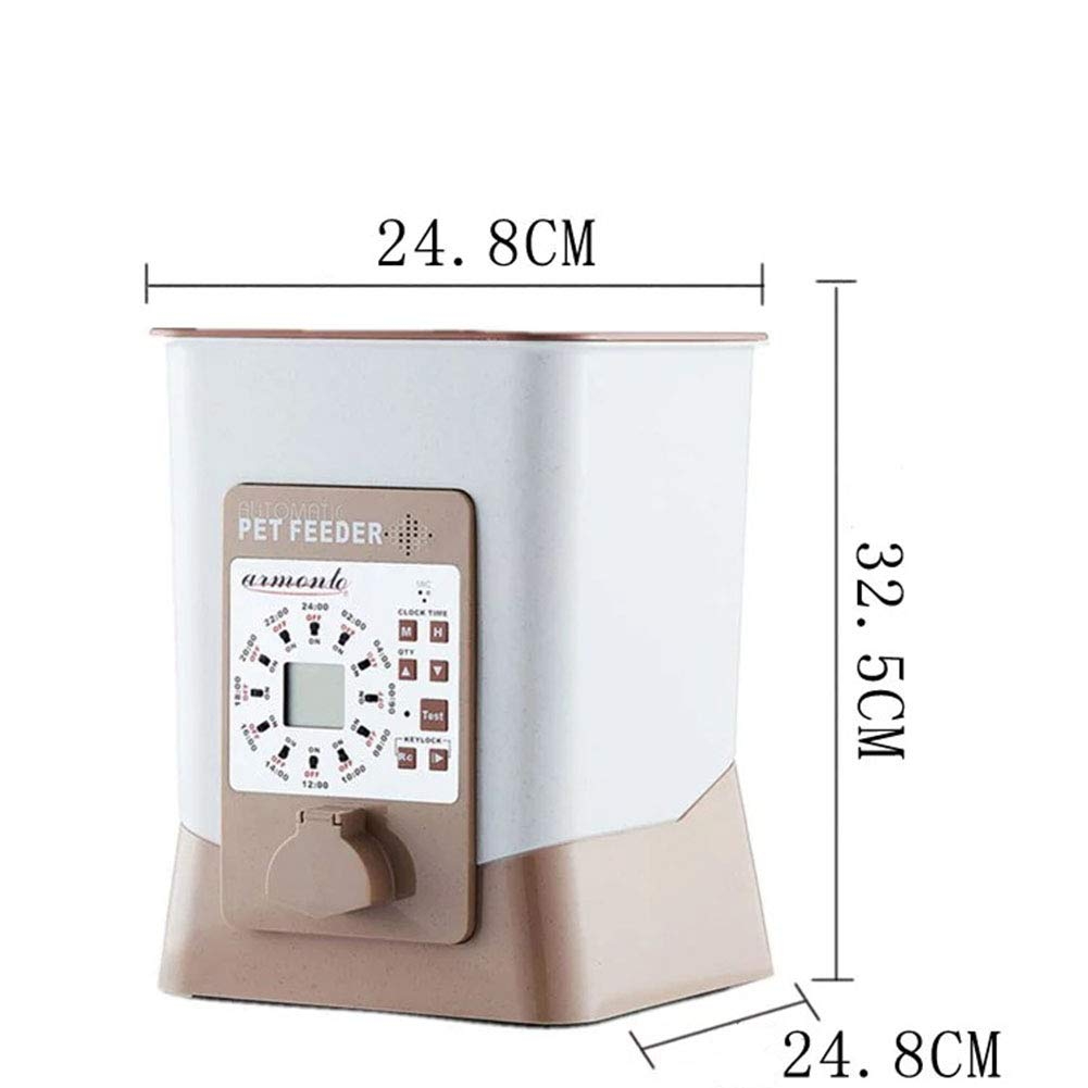 Pet Smart Feeder, Timed Feeding Recording 12 Meals Large Capacity Simple Feeder
