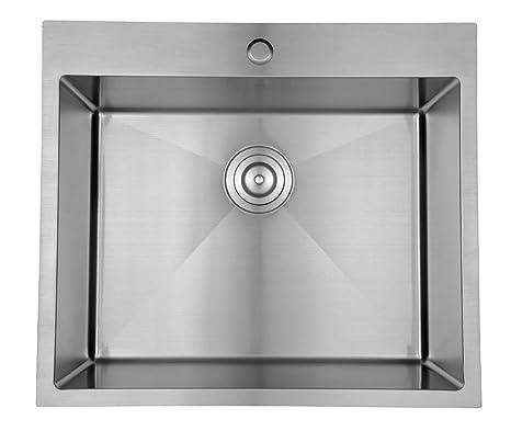 Starstar 25 X 22 Top-mount/ Drop-in Single Bowl Kitchen Sink 304 Stainless  Steel 16 Gauge
