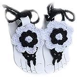 Pixnor Newborn Baby Girls Handmade Crochet Barefoot Sandals Flower Shoes Prop