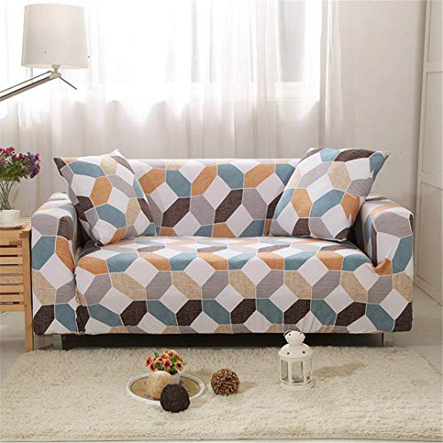 (Ranferuyk Elastic Slipcovers Sofa Universal Sofa Cover Cotton Stretch Sectional Couch Corner Cover Sofa Cover for Living Room Pets 1PC Color 20 4-Seater 235-300cm)