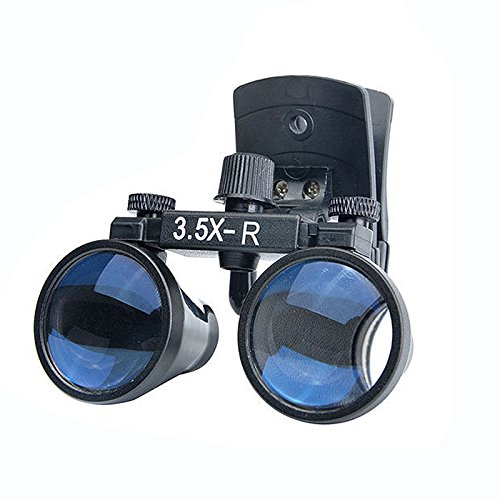 Zgood Dental Binocular Loupes Surgical Glasses Magnifier Clip on Style DY-110 3.5X-R by ZGood