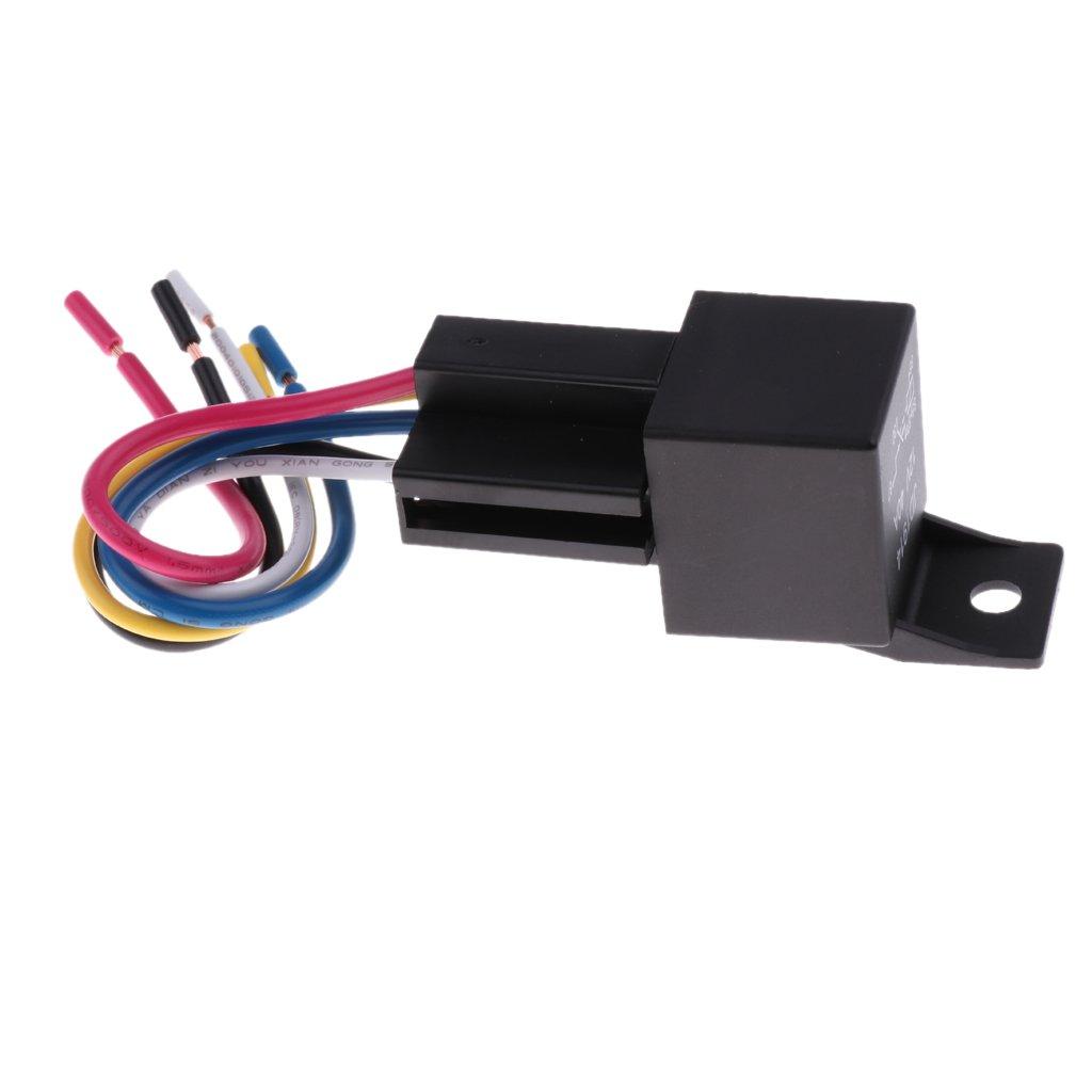 gazechimp 2 Sets JD1914 12V 40Amp Car Electronic 5 Pin SPST Relays with Harness Socket