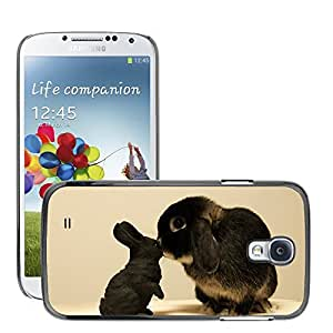 Hot Style Cell Phone PC Hard Case Cover // M00046141 bunny animals pets black // Samsung Galaxy S4 i9500