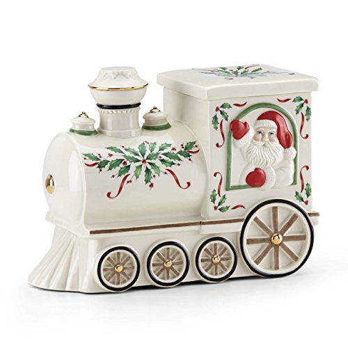 Lenox 879342 Hosting the Holidays Cookie Jar, Multicolor Christmas Tree Cookie Jar