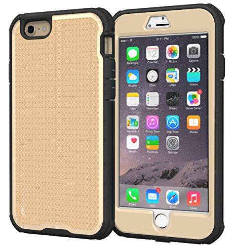 roocase iPhone 6s Plus Case - roocase [VersaTough] iPhone 6s Plus Rugged Armor Full Body Tough Case for Apple iPhone 6 Plus / 6s Plus (2015), Fossil Gold