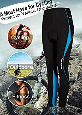 Cycling Pants for Womens,3D Padded Breathable Capri Pants Ankle Length Cycling Tights Inner Drawstring