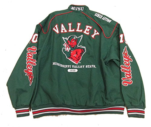 Mississippi Valley State University (Mississippi Valley State University Varsity Trimmed HBCU lack College Mens Big & Tall Jacket (2x large))