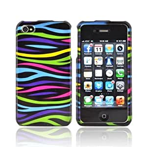 iphone covers For Apple iPhone 5c 4 Rainbow Zebra Black Hard Plastic Shell Case Cover