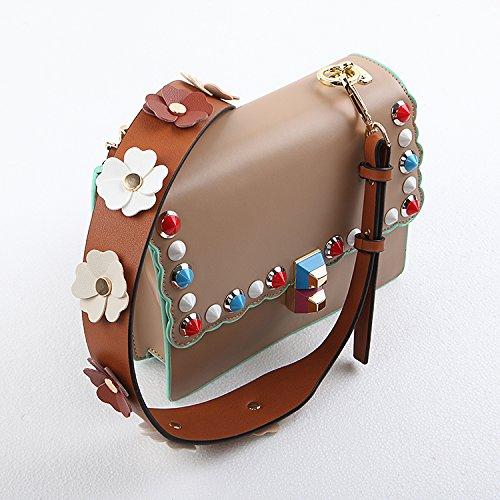 Flower Handle 5CM W Bag Wide Adjustable Crossbody Strap TSHOME Brown Brown L Belt Strap Shoulder 4 110 Replacement Hand DIY STBX0qyqKw