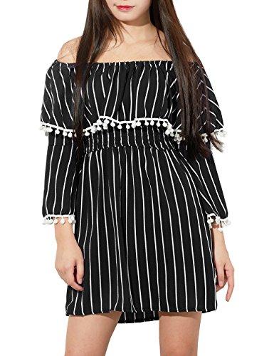 Yidarton Chiffon Dresses Shoulder Falbala product image