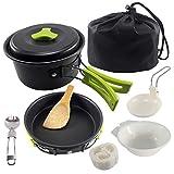 VEOLAND Camping Cookware Mess Kit Compact Lightweight...