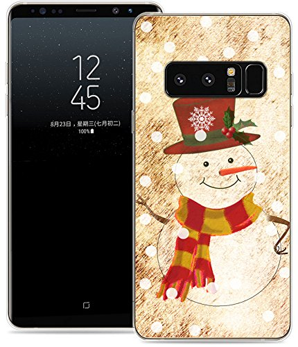 Case for Note 8 Christmas Snowman / IWONE Samsung Galaxy Note 8 Cover Case Skin Protective TPU Rubber Clear + Christmas Theme Design Cute Scene Story Gift Present