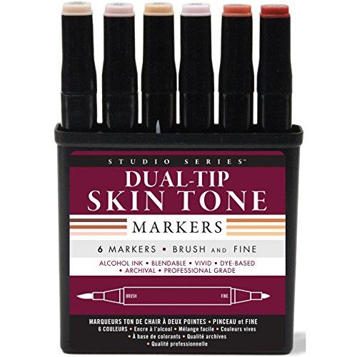 Mocha Studio - Studio Series Professional Alcohol Markers - Skin Tones - 6 Pack