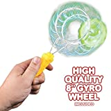 Retro Light Up Toys Set for Kids by ArtCreativity - Includes 8 Gyro Wheel and 8.5 Rail Twister- Mesmerizing Spinning and Lighting Effects Design- Top Fun Gift for Boys and Girls by ArtCreativityTM